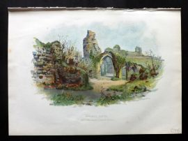 Cassell 1902 Antique Print. Hastings Castle